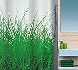 Spirella Anti-Schimmel Duschvorhang Gras Grün Anti-Bakteriell, waschbar, wasserdicht Polyester 180x200cm