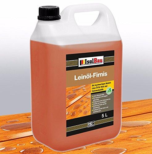 Aceite de lino 5litros, protección natural para la madera, cuidado y tratamiento...