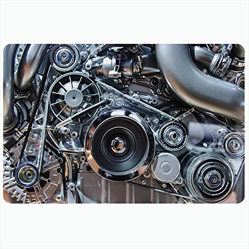 Alfombra de baño Alfombrillas Cigüeñal Motor del automóvil Limpiar Parte Moderna Automóvil Motor Metal Transporte Cojín Alfombrilla Industrial Respaldo - 40X60Cm