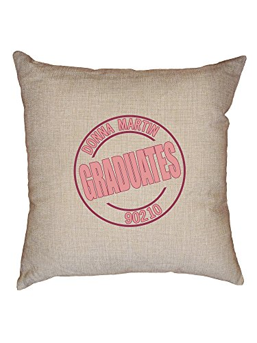 Hollywood Thread Donna Martin Graduates Classic Beverly Hills Decorative Linen Throw Cushion Pillow Case with Insert
