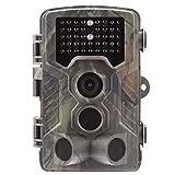 Cámara de Caza 16MP 1080P IP65 Impermeable 36 LED de IR Invisible 2.4 ''LCD 3 Sensores PIR Visión Nocturna hasta 25m Vigilancia de monitores de Vida Silvestre Seguridad en el Hogar