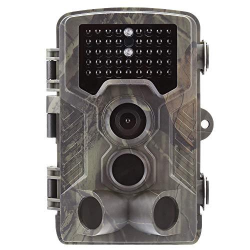 SUNTEKCAM Wildkamera Fotofalle 2G MMS smtp 16MP 1080P HD Jagdkamera Nachtsicht Bewegungsmelder IP65 Wasserdichter& Staubdicht 3-Zonen-Infrarotsensor 120 °Weitwinkel Nachtsichtkamera HC-800M