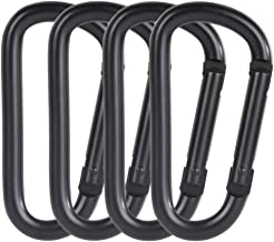 Black 2 inch//50mm Small Aluminum Alloy Keychain Clips Mini Quick Link Lock Ring Spring Buckles for Camping Fishing Hiking Traveling AOWESM 10-Pack Spring Snap Hook Carabiner M5
