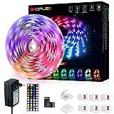 Tiras LED 5M, SHOPLED LED Tira cambia de color con Control Remoto de 44 Botones, Multicolor RGB 5050 Luces LED Habitacion para...