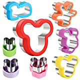 Mickey Mouse Cookie Cutter set, Head & glove & Shoes & Side Face & Smiling Face Cartoon Shapes Sandwich Cutters Cookie Cutters Vegetable cutters -Food Grade Cookie Cutter Mold for Kids ( 8pack)