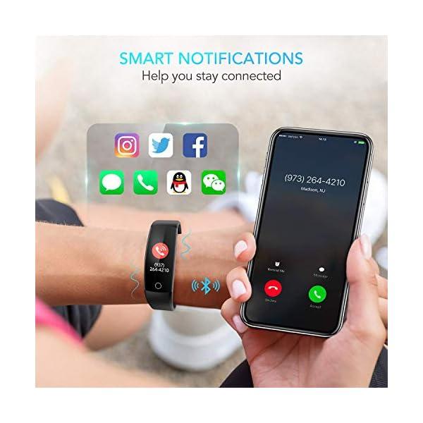 AGPTEK Pulsera de Actividad Inteligente, Reloj Deportivo Pantalla a Color IP67 Soporta GPS, Temporizador, Monitor de… 7
