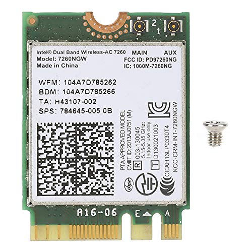 Internal Network Card WiFi Card WiFi Chip with Dual Band Fit for INTEL 7260NGW AC for Bluetooth