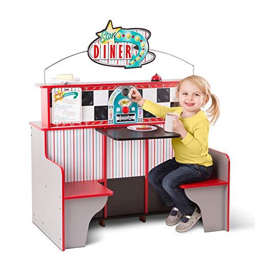 Melissa & Doug Star Diner Restaurant (Play Set & Kitchen, Wooden...