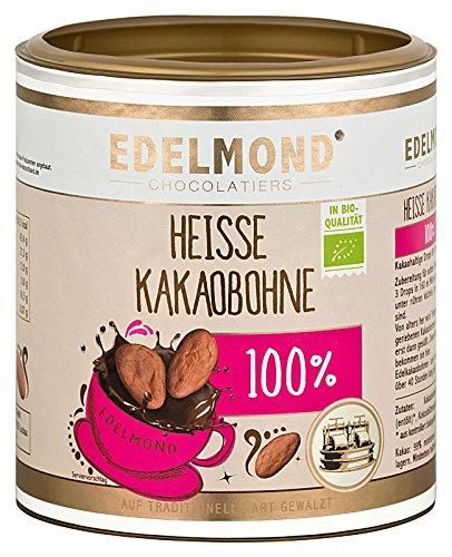 Edelmond 100 % Kakaobohne für heiße Trink Schokolade ohne Zucker. Kein Pulver, dunkle Vollkakao Kugeln 250 GR
