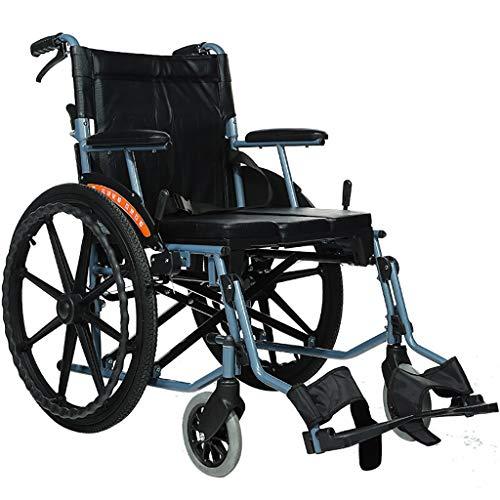 Rollstuhl FüR Jugendliche, Junge Erwachsene, äLtere Menschen, Behinderte | Leichter, Zusammenklappbarer Rollstuhl, Transportstuhl Mit Feststellbarer Handbremse, 22-Zoll-HinterräDer