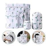 YKULEW 6pcs impresión lavado bolsa protectora engrosamiento malla lavandería...