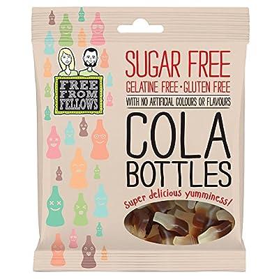 cola bottles - sugar, gelatine & gluten free jellies sweets 100g (pack of 1) Cola Bottles – Sugar, Gelatine & Gluten Free Jellies Sweets 100g (Pack of 1) 51GLZ3QZw2L