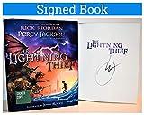 Percy Jackson and the Olympians Lightning Thief Illustrated Rick Riordan SIGNED BOOK COA