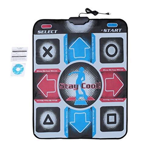Dance Mats Pads, Rutschfeste, strapazierfähige, verschleißfeste Tanzschritt Tanzmatte Pads Dancer-Decke für PC mit USB für Bodybuilding-Fitness