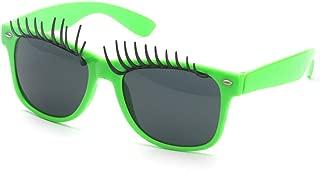 ERSD Big Eyes Pestañas Fanci-Frame Adulto Niños Gafas de Sol Playa Conducción Vacaciones Pesca Fiesta Gafas Falsas Gafas para Eclipse Solar (Color : Verde)