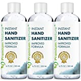 Instant Hand Sanitizer Gel - Value Size Advanced Natural Hand Sanitize Cleaner Portable Aloe Vera Moisturizer Packaging May Vary 200 ml 3 Pack