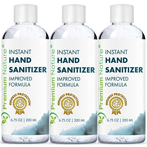 Instant Hand Sanitizer Gel - Natural Advanced Hand Sanitize...