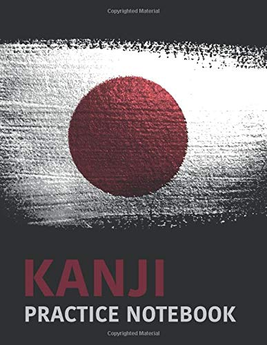 Kanji Practice Notebook: Large Composition Book With 4x4 Square Graph For Practicing Kanji and Kana Letters | Japanese Character Writing | Genkouyoushi Paper