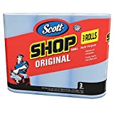Scott 75143 Scott Shop Towels, Blue (3 Rolls, 55 Towels/Roll, 165 Towels Total)