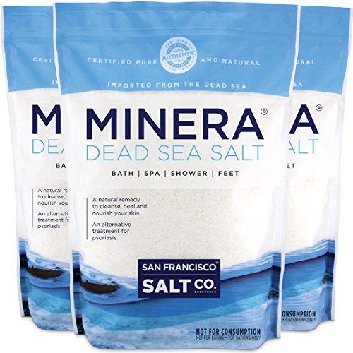 Minera Dead Sea Salt - 15 lb. (Qty 3 x 5 lb. Bags) Fine Grain