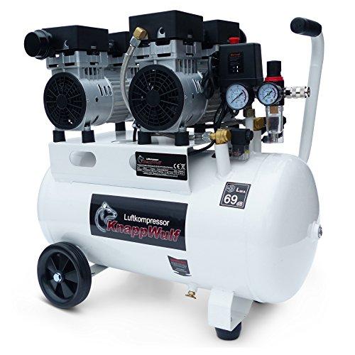 """KnappWulf Kompressor\""""mucksmäuschenstill\"""" Modell KW2050 8bar Druckluftkompressor 69dB"""