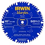 IRWIN Marples 10-Inch Miter / Table Saw Blade, ATB, 50-Tooth (1807368)
