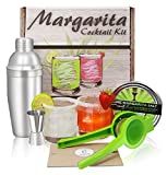 MARGARITAS IN A BOX! This gift set has all the bar accessories and recipes needed to mix up tasty drinks at home using fresh squeezed lime juice and not sugary margarita mix. Add your favorite tequila, orange liqueur, and a squeeze of lime to make a ...