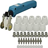 RIVERWELD PT-31 LG-40 20072 Plasma Cutter Torch Body & Roller Guide Wheel Spacer &Plasma Tip Electrode Nozzle Gas Ring Shield Cup Kit 42pcs