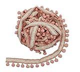 Yalulu 4,5 m bordados con pompones de encaje, borlas, flecos, cinta para...