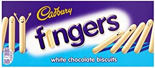 Original Cadbury Fingers White Chocolate Biscuits Imported From The UK England The Best Of British White Chocolate Crisp Biscuits Covered With White Chocolate.