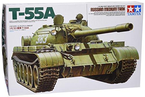 タミヤ 1/35 ミリタリーミニチュアシリーズ No.257 ソビエト陸軍 戦車 T-55A プラモデル 35257