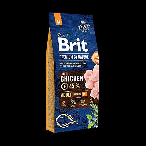 Brit Premium by Nature Adult M 15kg Hundefutter Trockenfutter
