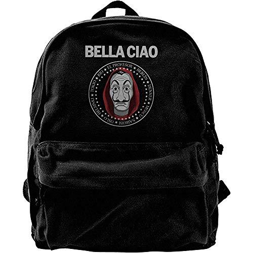Canvas Shoulder Bag,Casa De Papel Money Heist Bella Ciao Mochilas Escolares Atractivas...