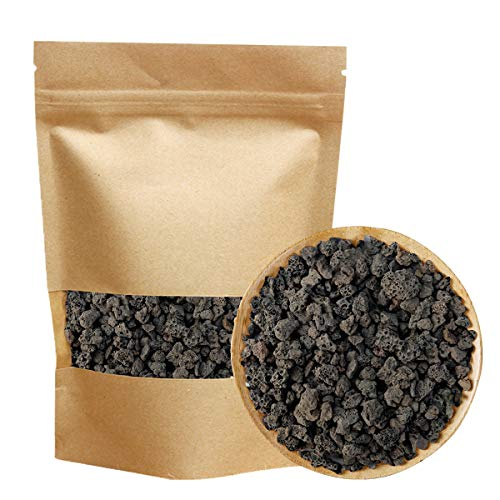 Black Horticultural Lava Rock Soil Additive for Cacti Succulents Plants No Dyes or Chemicals 100% Pure Volcanic Rock 2.2LB Top Dressing