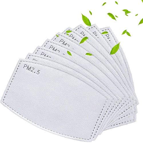 100PCS Adult Activated Carbon PM 2.5 Filter Insert Replaceable Anti Haze Face Filter Paper
