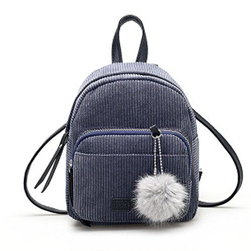 YWLINK Damen Retro Mini-Rucksack Daypacks MäDchen Rucksack Mit Bommel Reise UmhäNgetasche