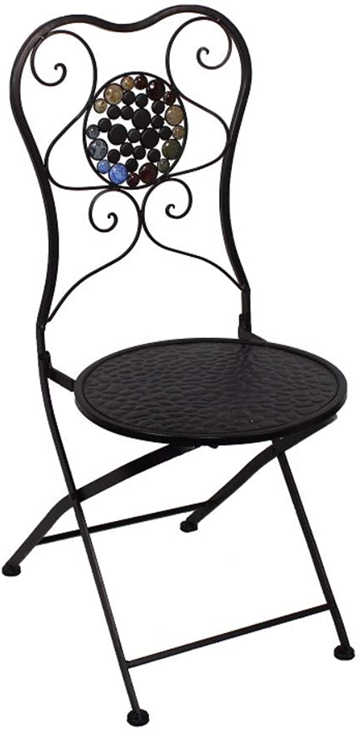 Benzara Metal Chair with Stones