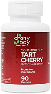 Montmorency Tart Cherry Dietary Supplement 480mg   90 Count   Non-GMO & Gluten Free   Helps Support Joint Health