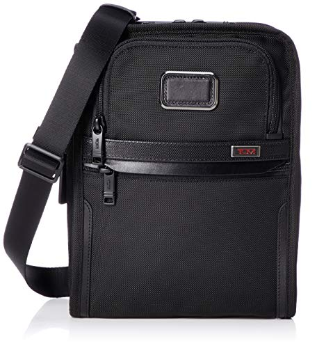 TUMI - Alpha 3 Organizer Travel Tote - Satchel Crossbody Bag for Men and Women - Black