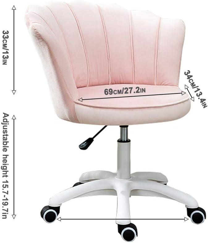 QHF Chaise de Bureau Ergonomique Chaise de Bureau Support Lombaire Ergonomique à Dossier Moyen pour Faire de Votre Chambre ou Bureau Un Style Moderne à la Mode Green