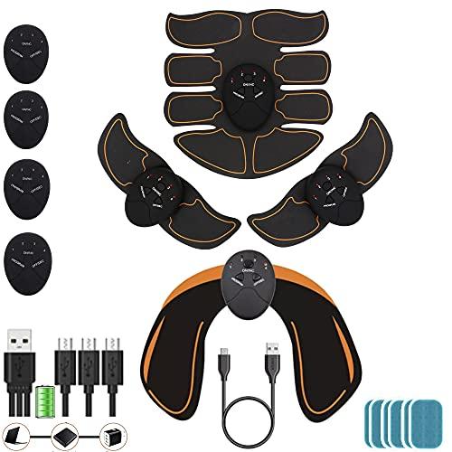 kames skoss prestige - Electroestimulador Muscular Abdominales Masculino Femenino, Keat Estimulador Brazo + Muslos + Piernas,Dispositivo Oficial ofrecido (USB)