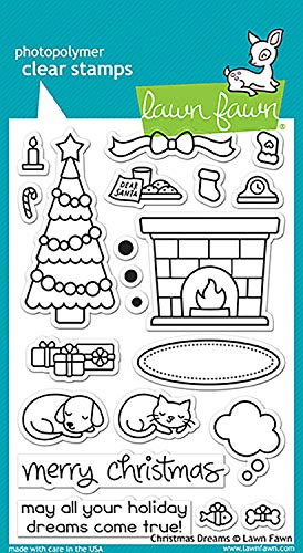 LAWN FAWN Clear Stamps 4'X6' Christmas Dreams (LF1466) (Оnе Расk)