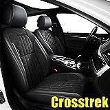 AOMSAZTO Custom Fit for Subaru 2016 2017 2018 2019 2020 2021 Crosstrek Faux Leather Car Seat Covers Full Set Compatible Airbag Crosstrek Seat Protector Comfortable and Breathable Black