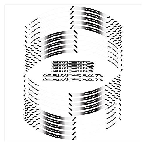 wjyfexble Strips de neumáticos de la Motocicleta Etiqueta Reflectante a Prueba de Agua Pegatinas de Cobertura Completa Personalizada Pegatinas Compatibles con Honda CBR250RR WYJHN (Color : 180172)