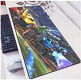 ZDVHM Rocket League Gaming Alfombrilla de ratón Extranjero Extrementado Mouse Café Café Juego Mousepad for Oficina Hogar Antideslizante PC Mesa de Escritorio Mesa de Escritura
