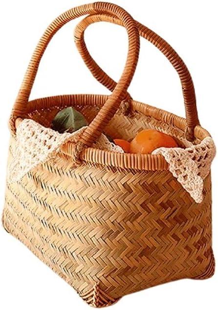 Weaving Picnic Basket Hand Carry Storage NEW Hamper Food Outd Award-winning store