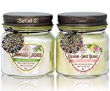 Way Out West Aromatherapy Scented Candles Set with Natural Lemongrass Lavender and Geranium Sweet Orange - Happy Pack Set of 2 Candles - Made in America
