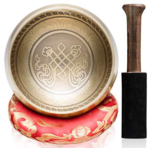 CAHAYA Tibetan Singing Bowls with Cushion and...