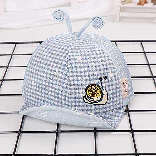 mlpnko Nouveau Chapeau de bébé visière modèles de marée de Chapeau visière de Chapeau d'enfants de Chapeau d' Escargot Doux écran Solaire Bleu 45-47cm