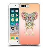 Head Case Designs Oficial Monika Strigel Orange Elefante Gitano Carcasa de Gel de Silicona Compatible con Apple iPhone 7 Plus/iPhone 8 Plus